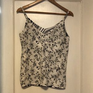 Reversible black and white camisole